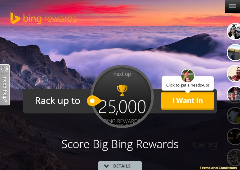 Gamification-Beispiel: Bing Rewards